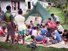 Fiji, Visoto village (2014): Anna is making the kids painting pictures