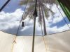 Fiji, Caqalai Island (2014): Waking up in our tent on the beach