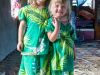 Fiji (2014): Our girls in a local Fijian dress - a present