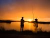 New Zealand, Maketu (2014): People fishing in the sunset; Photo: Thomas Alboth