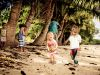 Fiji hoidays: Kids playing on the beach (Vanua Levu, Savusavu)