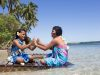 Tonga, Ofu Island (2014): Kids playing on the beach; Photo: Thomas Alboth