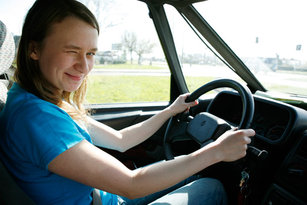 Anja as a driver / Photo: Thomas Alboth