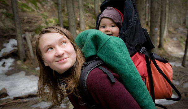 fjord nansen baby carrier with hanna on mount hoverla (ukraine)