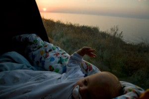 Hanna waking up at the Black Sea near Illichivsk (Odessa; Urkaine)