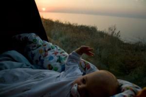 Hanna waking up at the Black Sea near Illichivsk (Odessa; Urkaine)