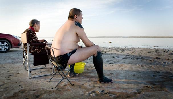 Salt lake (Liman) near Odessa; Ukraine; Photo: Thomas Alboth