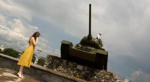 Girl with Tank in Tiraspol (Transnistria; Moldova)