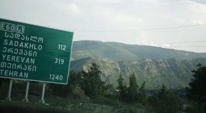A road sign near Tiblissi (Georgia)