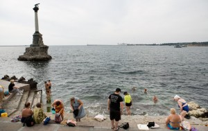 At the Black Sea in Sevastopol (Ukraine)