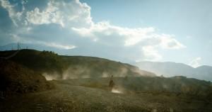 Rider on the way to Laza (near Quasar; Azerbaijan)