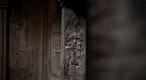 Cross in the Gerhard monastery in Armenia