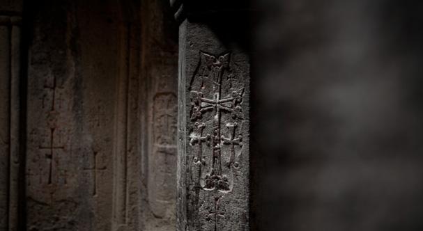 Cross in the Gerhard monastery in Armenia