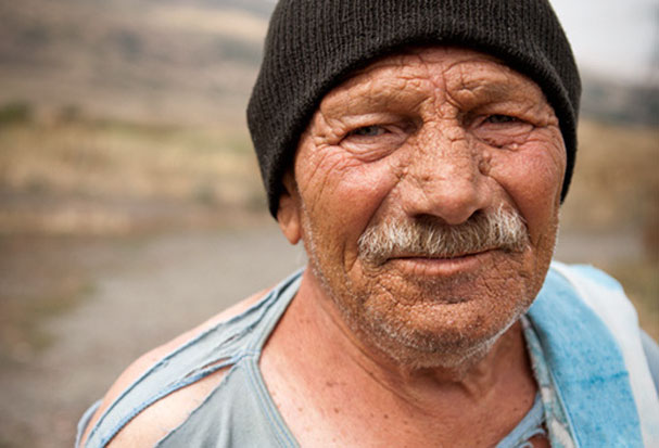 homeless men in the armenian mountains