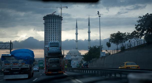 On the road near Bosporus (Turkey)
