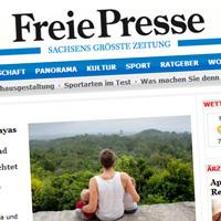 Freiepresse: Elternzeitreise des Plaueners zu Mayas