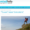 To wants means to be able to @ mladi info