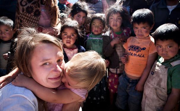 Guatemala: Meeting in a village on the way to Todos Santos; Photo: Thomas Alboth