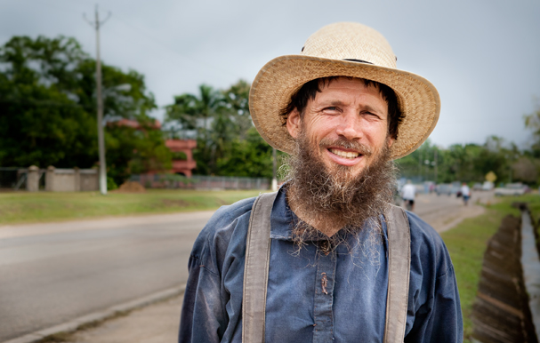 Belize: Our Mennonite hitchhiker, Photo: Thomas Alboth