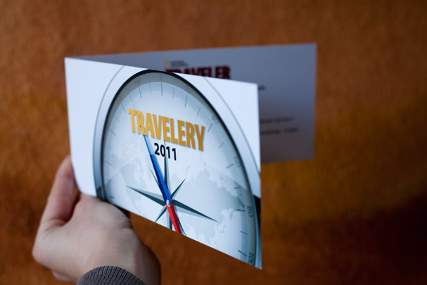 The invitation for National Geographic Travelery gala in Warsaw (Poland)