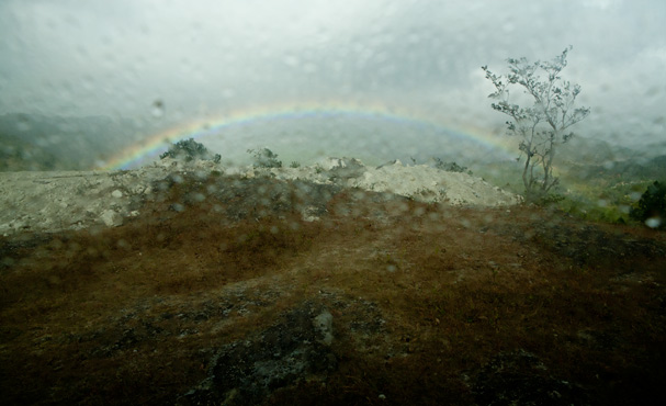 Honduras: Rainbow In the rainy moutains.