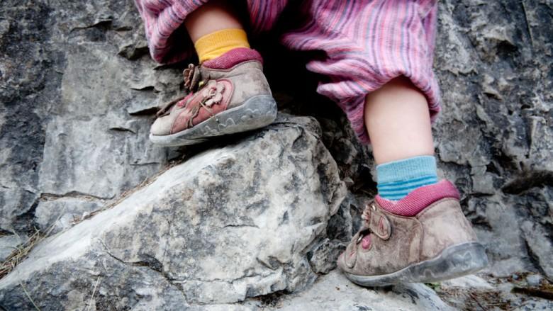 Zakopane (Poland): Hanna and Mia climbing ; Photo: Thomas Alboth