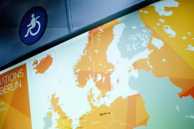 Barcelona (Spain): In the plane a wheelchair