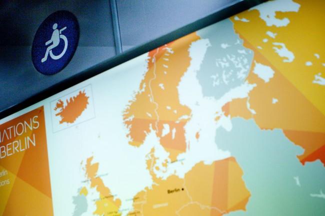 Barcelona (Spain): In the plane a wheelchair