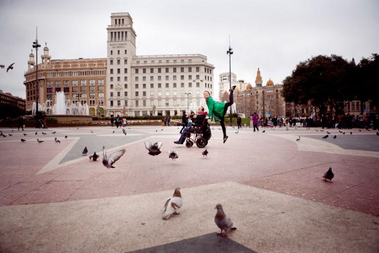 Barcelona (Spain): With a wheelchair