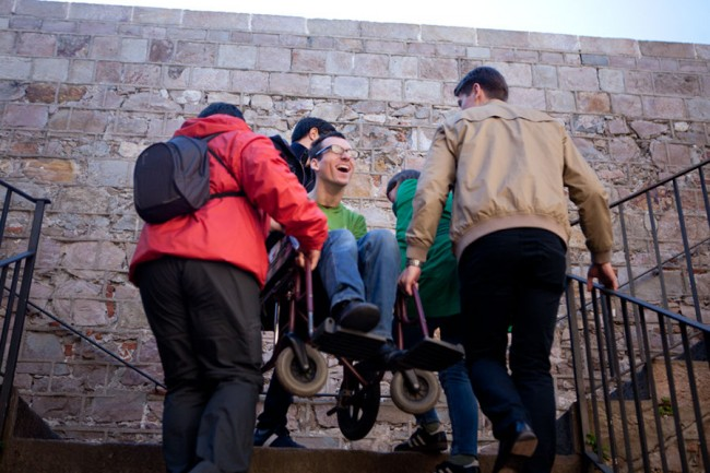 Barcelona (Spain): With the wheelchair in Barcelone: Photo: Alboth; thefamilywithoutborders.com