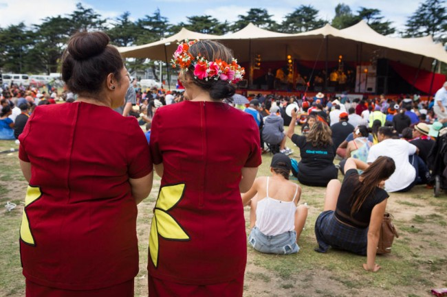 Auckland (New Zealand): Music farom Tuvalu at the Pasifika Festival; Photo: Alboth