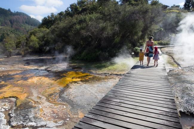 Orakei Korako (New Zealand): Geysers at the Lake Ohakuri; Photo: