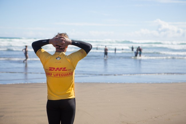 Bethells Beach (New Zealand): Surf Liveguard at the Bethells Bea