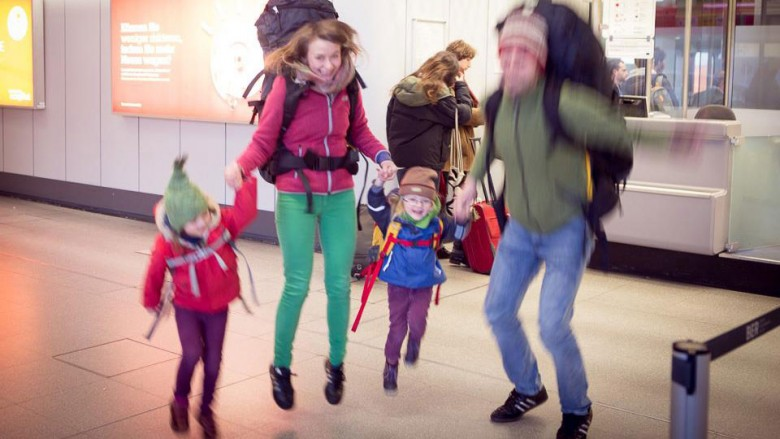 On the Family Trip: Video / Tegel Airport