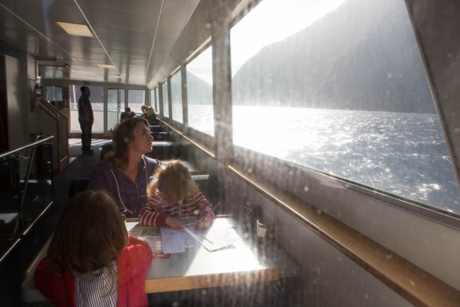 MIlford Sound (New Zealand): Kids don't care about the word outs