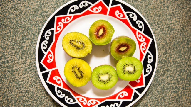 Kiwifruits from New Zealand: golden kiwifruit, green kiwifruit,
