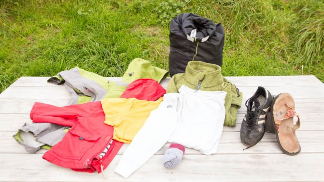 Clothes - Packlist for a family outdoor trip