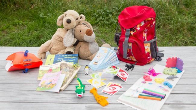 Packliste für Familien-Reise: Für die Kinder, Spielsachen, Kinder-Rucksack