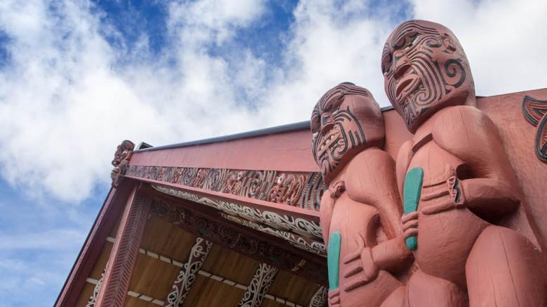 Marae - A Maori meeting house in New Zealand