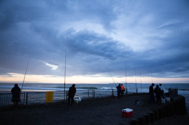 Maketu (New Zealand): Fishing in the evening