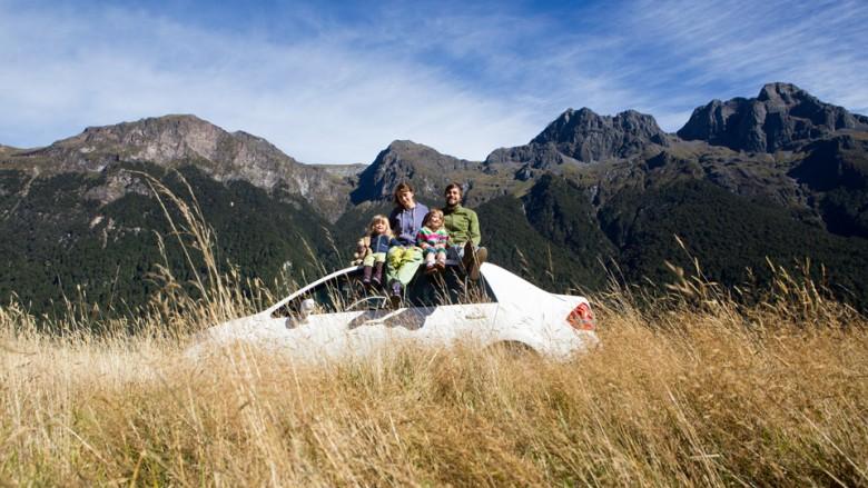 Familienreise in Neuseeland mit dem Auto/Campen