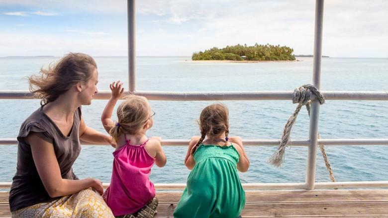Eua (Tonga): On the ferry; Photo: Thomas Alboth