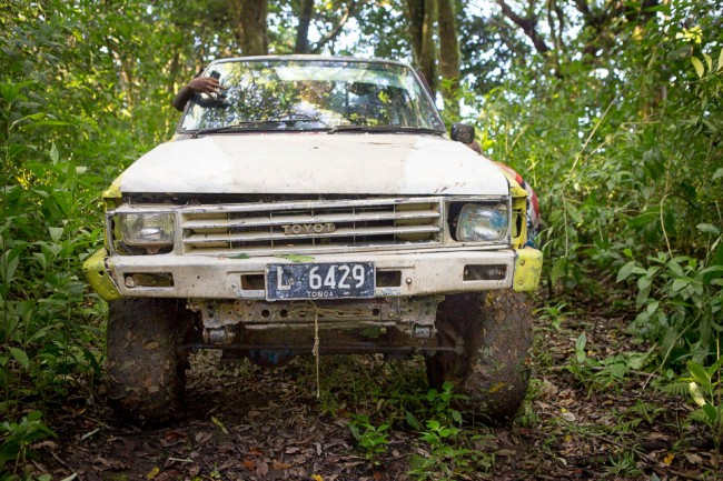 On a 4WD jeep through the jungle