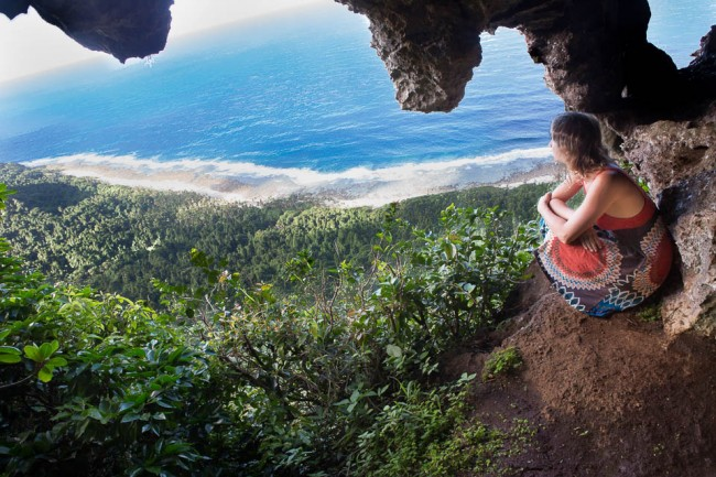 The stunning view from the rats cave on Eua (Tonga)