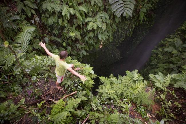 Eua (Tonga): A waterfall with no end; Photo: Thomas Alboth