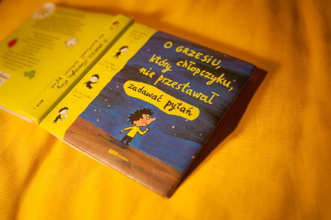 """książka: """"O Grzesiu, chłopczyku, który nie przestawał zadawać pytań"""""""