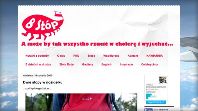 Osiem Stop – Ranking najlepszych blogów o podróżowaniu z dziećmi