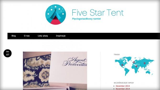 Five Star Tent – Ranking najlepszych blogów o podróżowaniu z dziećmi