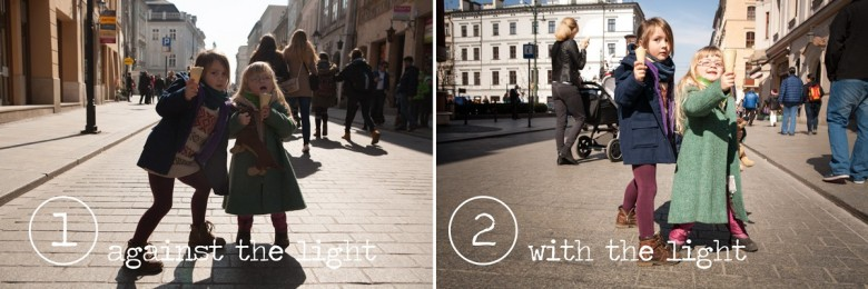 Photo against and with the light, Photo tutorial, tips