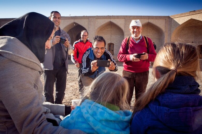 In Iran the (western) tourist are the real attraction